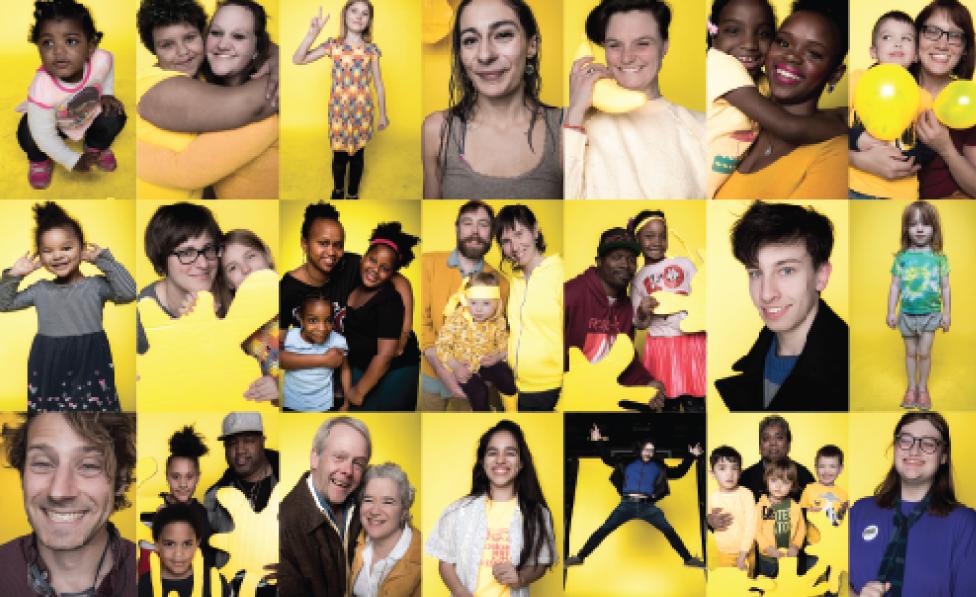 Yellow Community Portrait Exhibit!