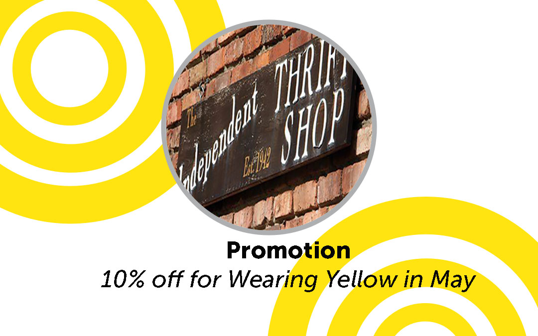 10% off for Wearing Yellow in May