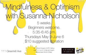 Mindfulness & Optimism with Susanna Nicholson @ Zephyr Float